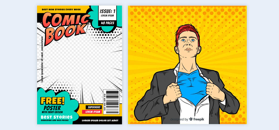 Use-a-Comic-book-style-3 creative presentation ideas