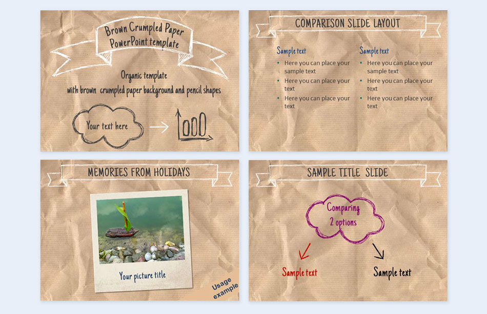 Use-a-scrunched-paper creative presentation ideas