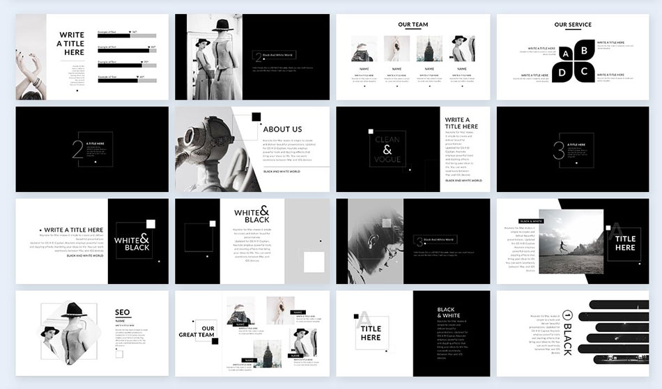 Use-black-and-white-photography-2 creative presentation ideas