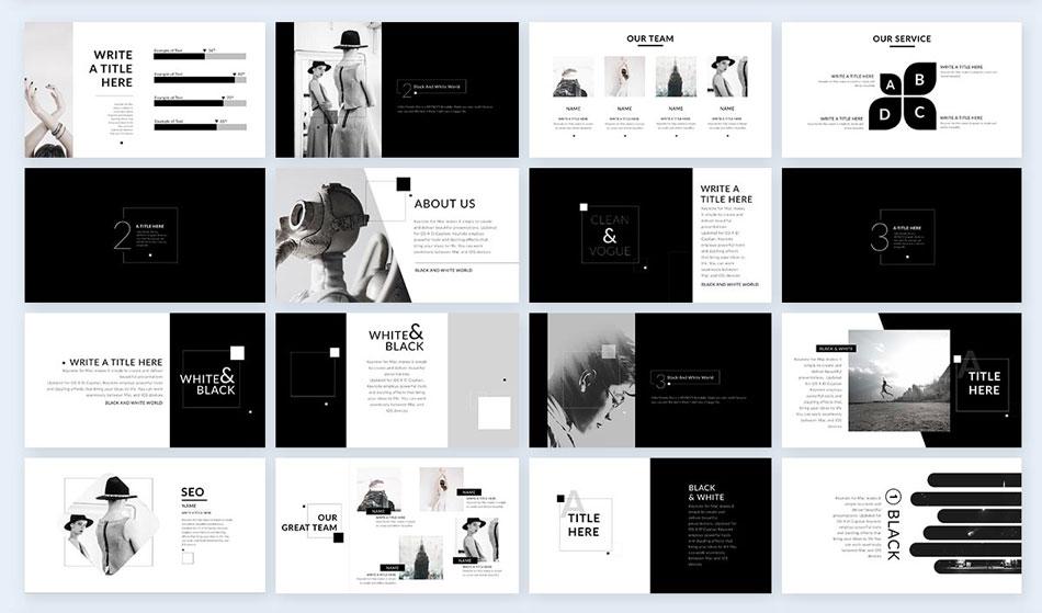 Use-black-and-white-photography-2 creative presentation ideas