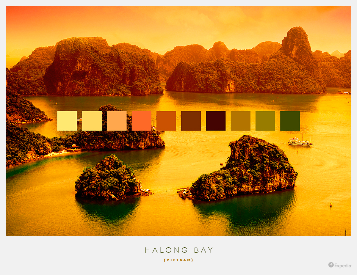 Vietnam color palettes from beautiful landscapes