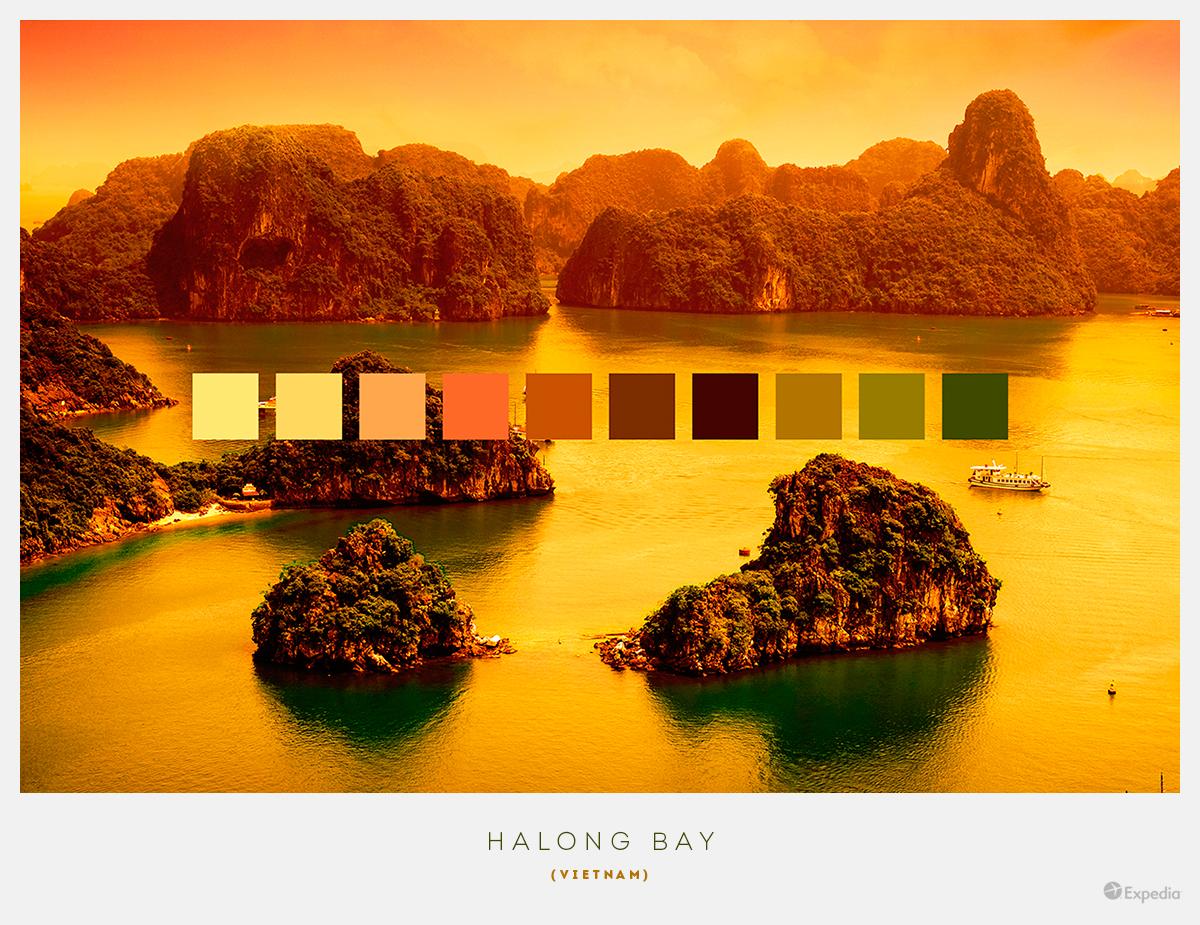 Vietnam color palettes from beautiful landscapes