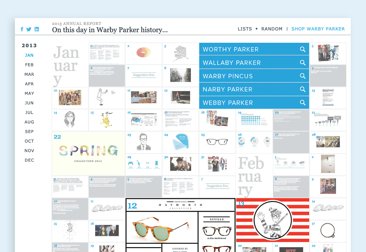 annual report design examples warby parker 2013
