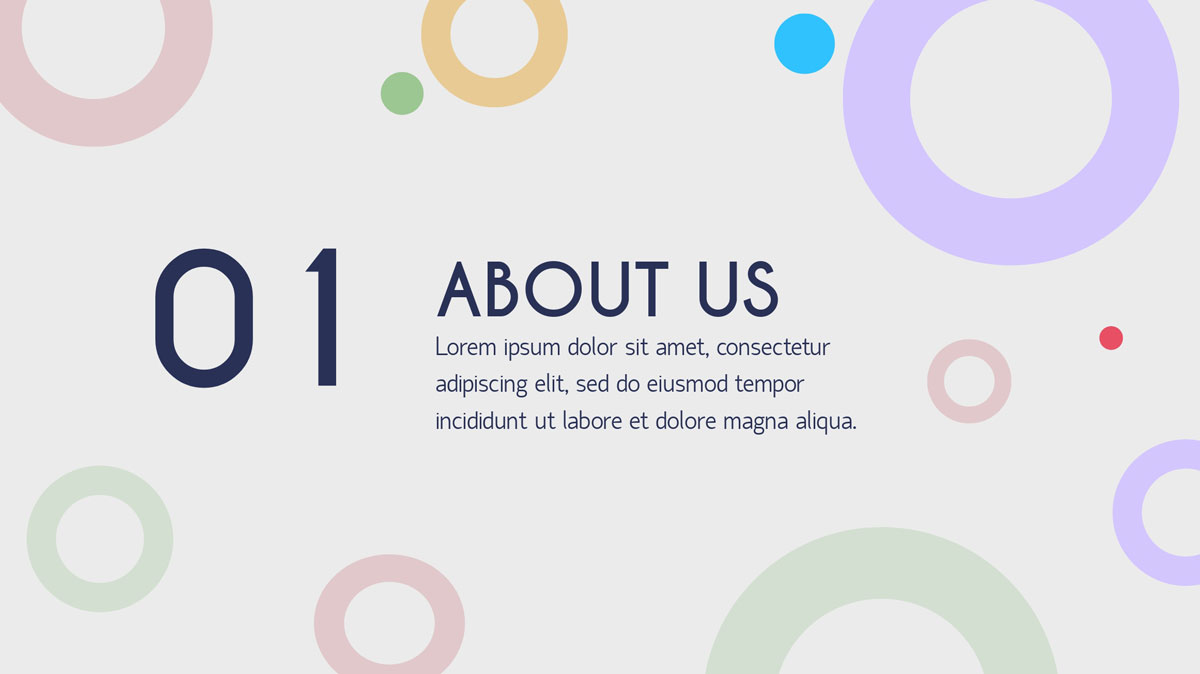 about us pastel colors presentation template