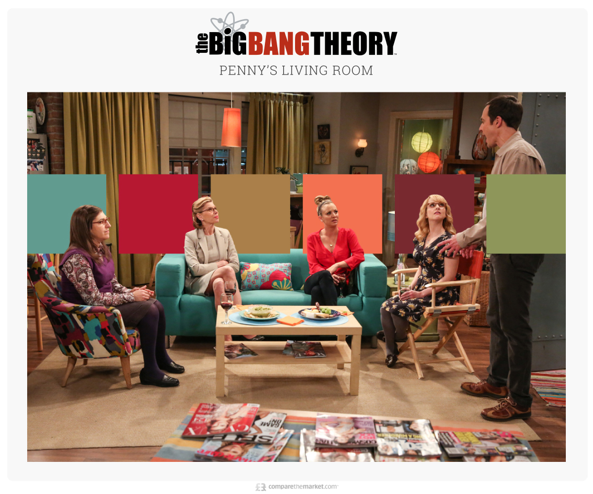 big bang theory living room color palette ideas