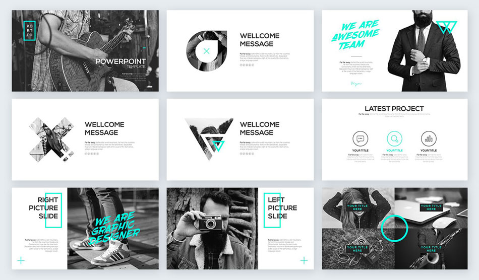 black and white spot of bright color creative presentation ideas
