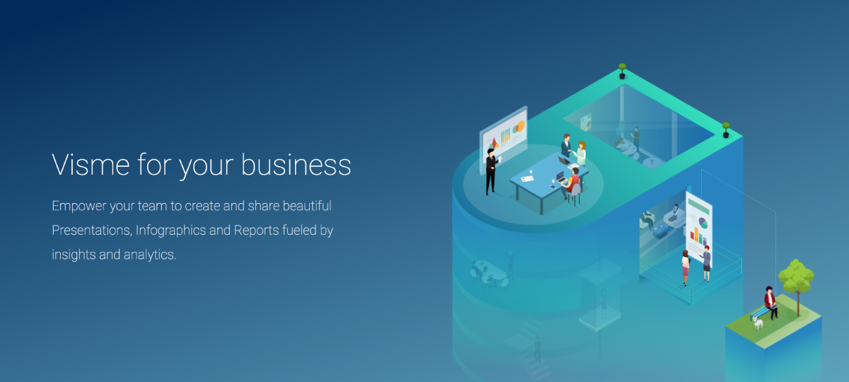 visme coming out of beta business-landing-page-graphic