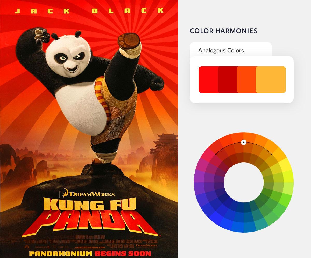 color psychology in marketing - analogous color scheme