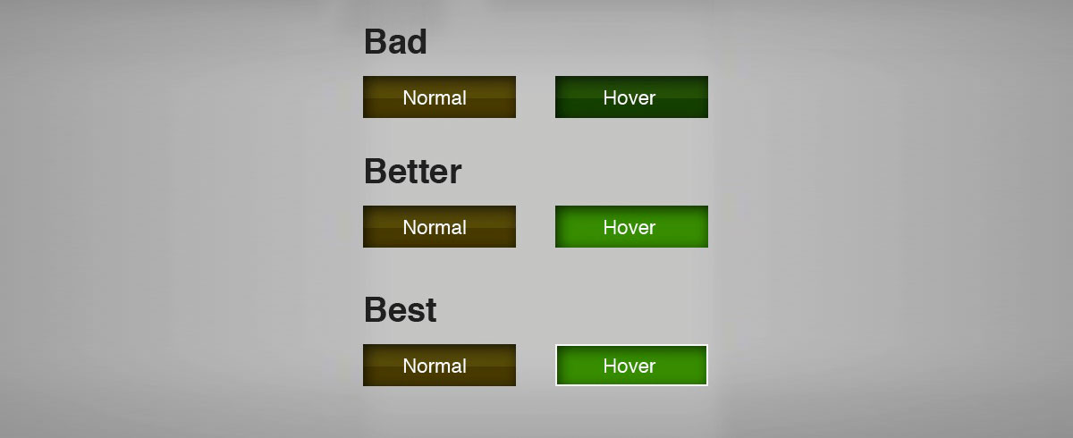 color psychology in marketing - color blindness hover effect cta button