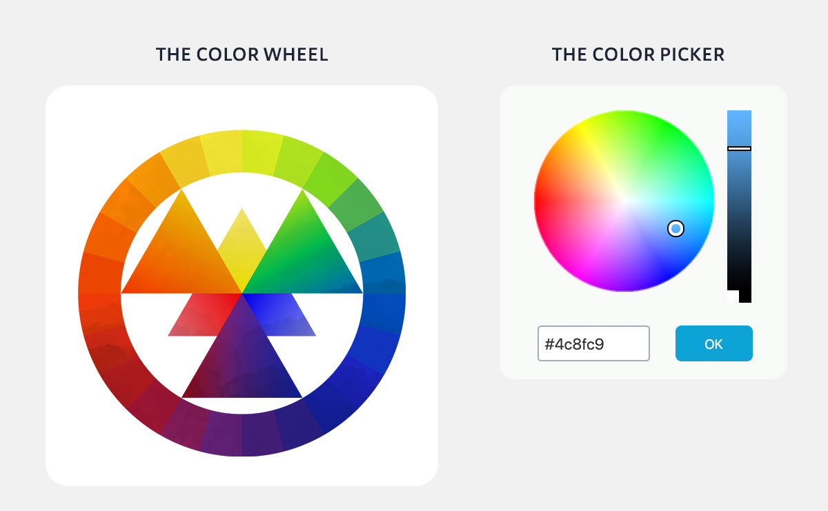 color psychology in marketing - color wheel and color picker