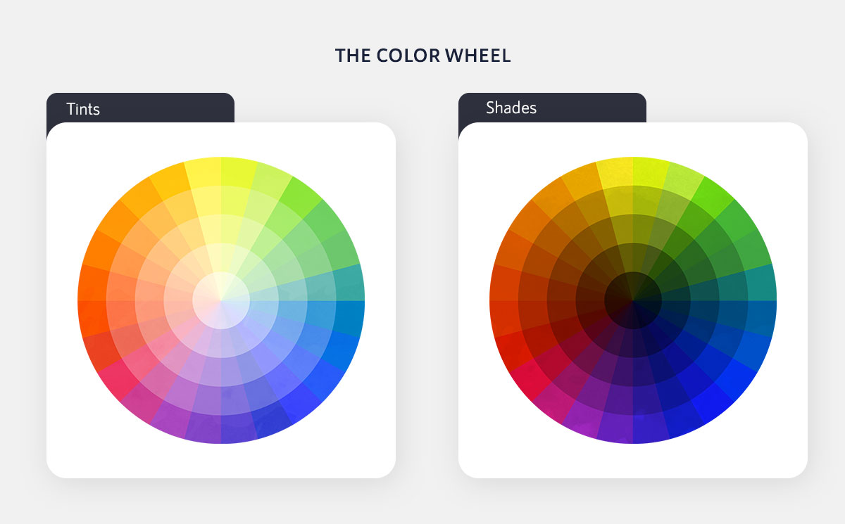 color psychology in marketing - color wheel tints and shades