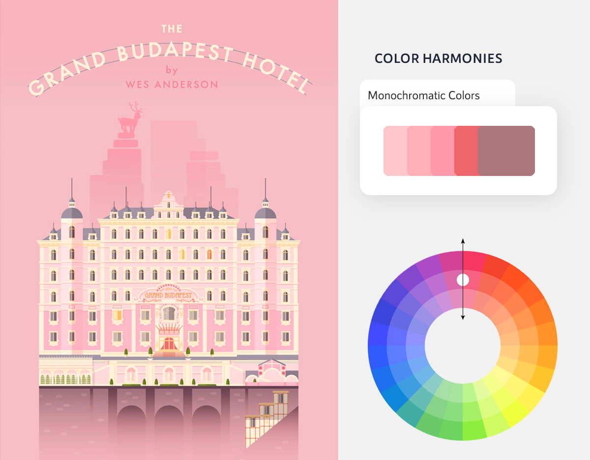 color psychology in marketing - monochromatic color scheme