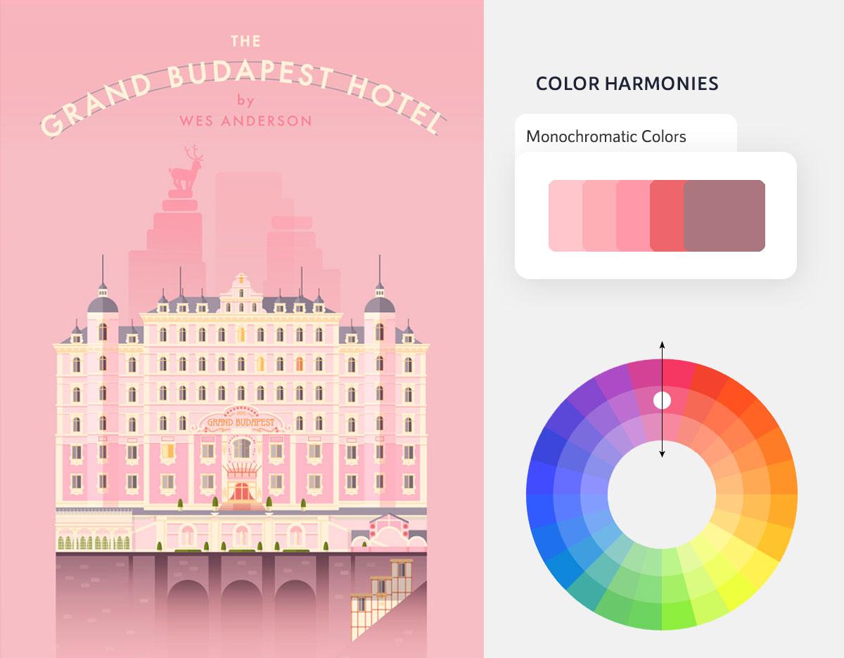 color psychology in marketing - monochromatic color scheme