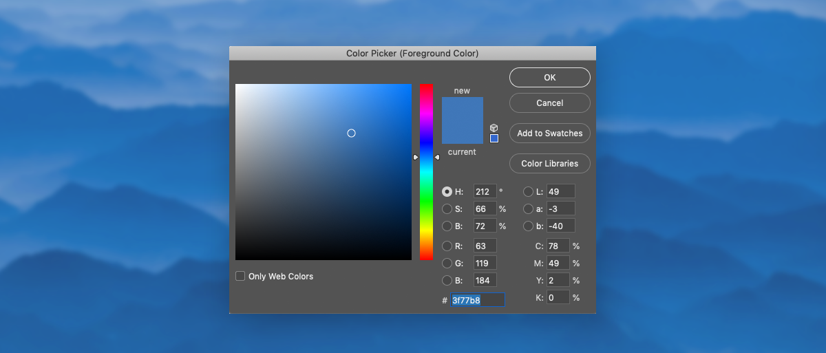 color psychology in marketing - adobe color picker