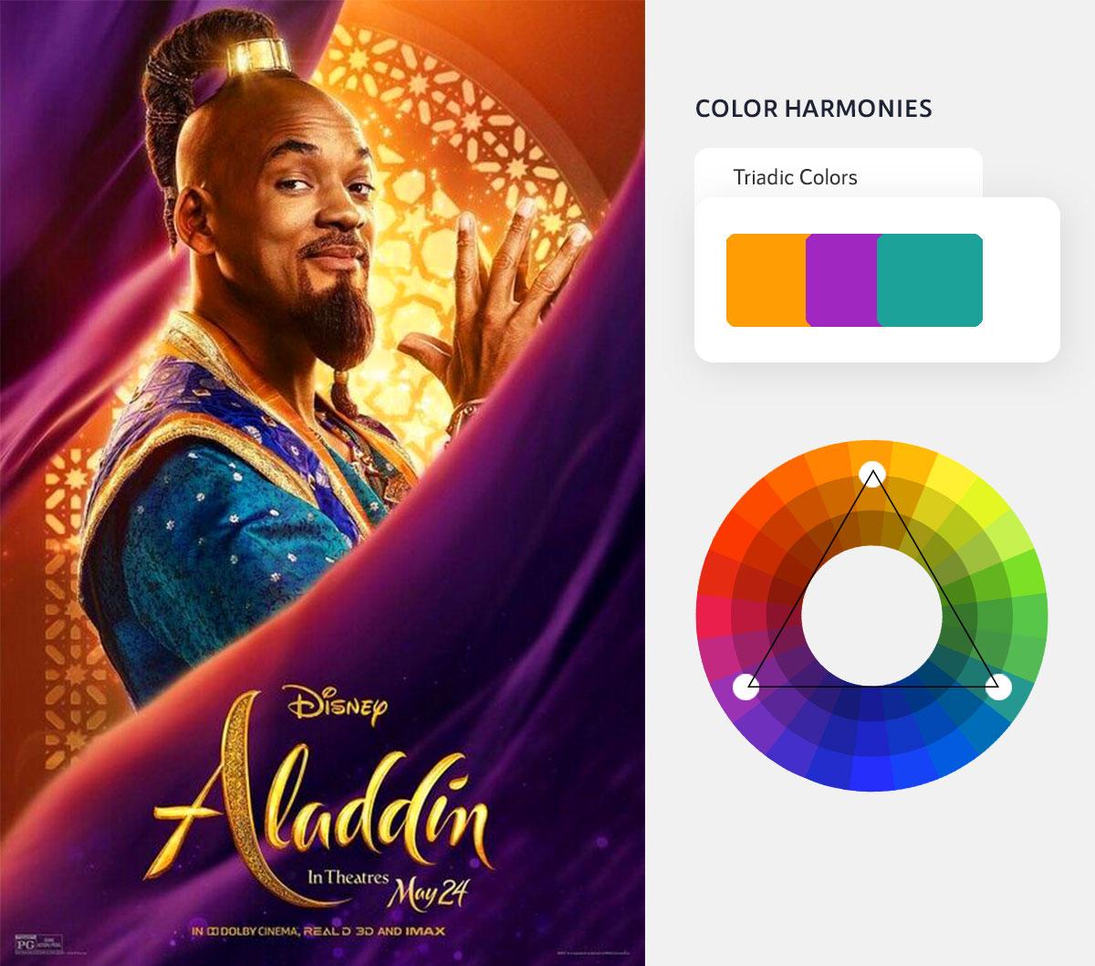 color psychology in marketing - triadic color scheme