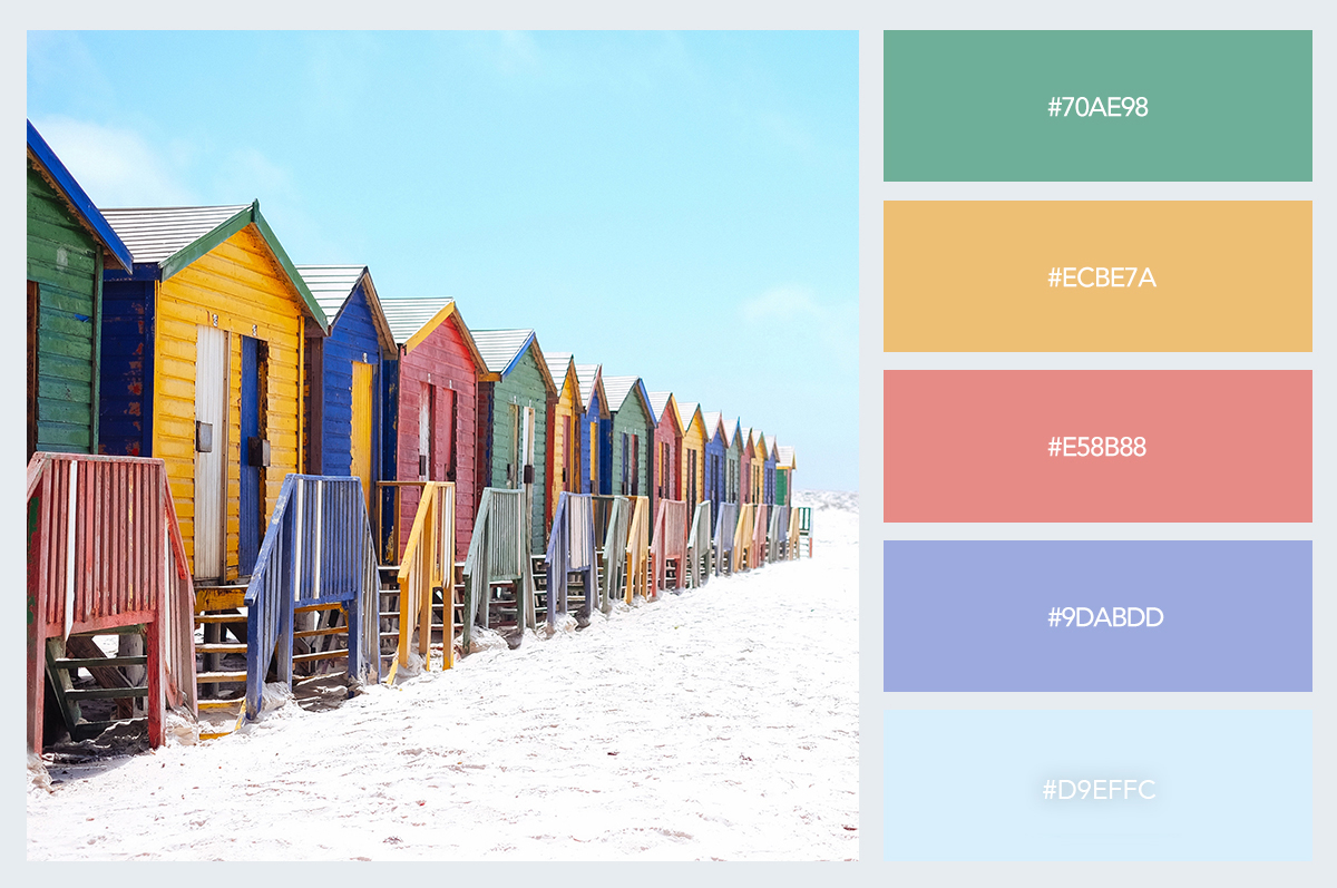 colorful houses color palette hex codes pastel colors visme