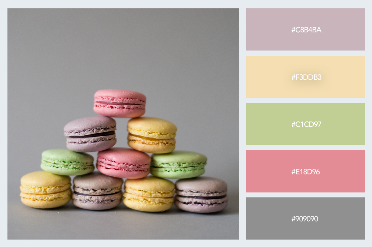 dessert cookies color palette hex codes pastel colors