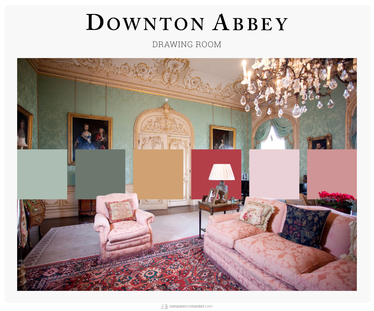 downton abbey living room color palette ideas