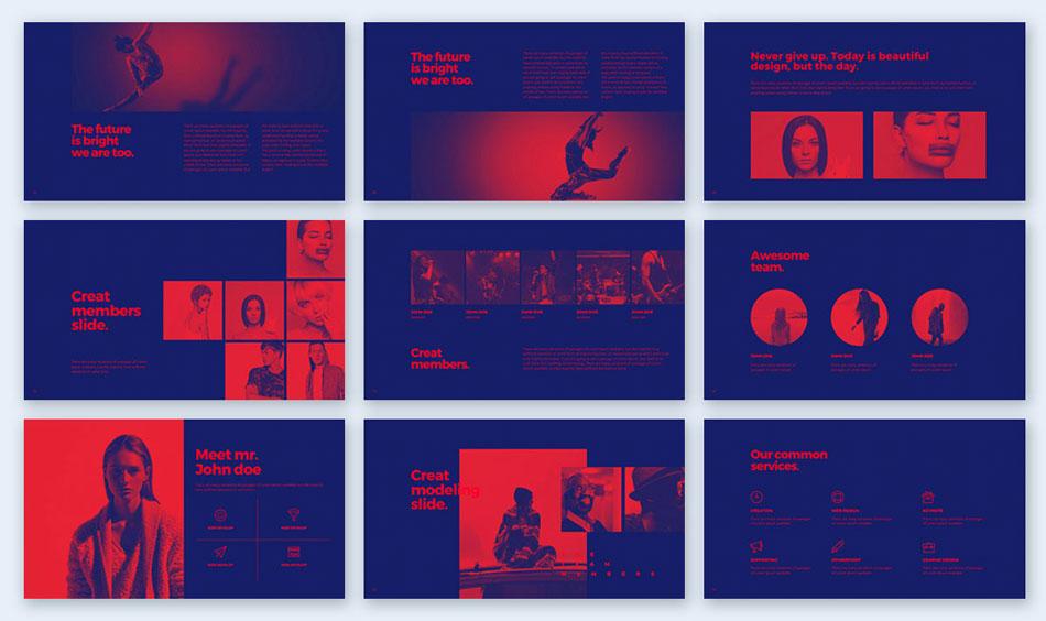 duotone creative presentation ideas