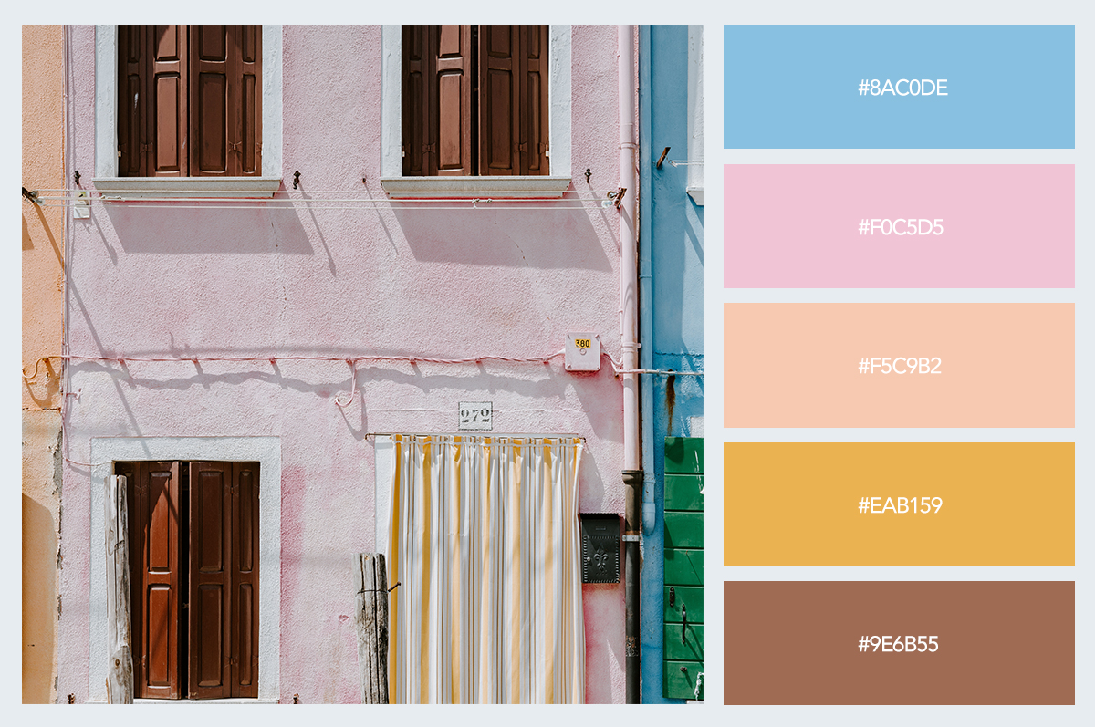 facade color palette hex codes pastel colors visme