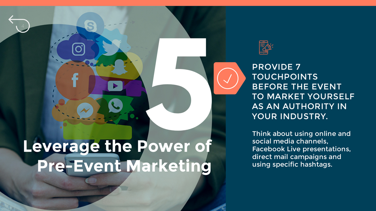first impressions leverage the power of pre-event marketing