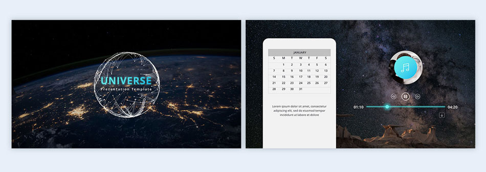 follow a space theme with photography 2 creative presentation ideas