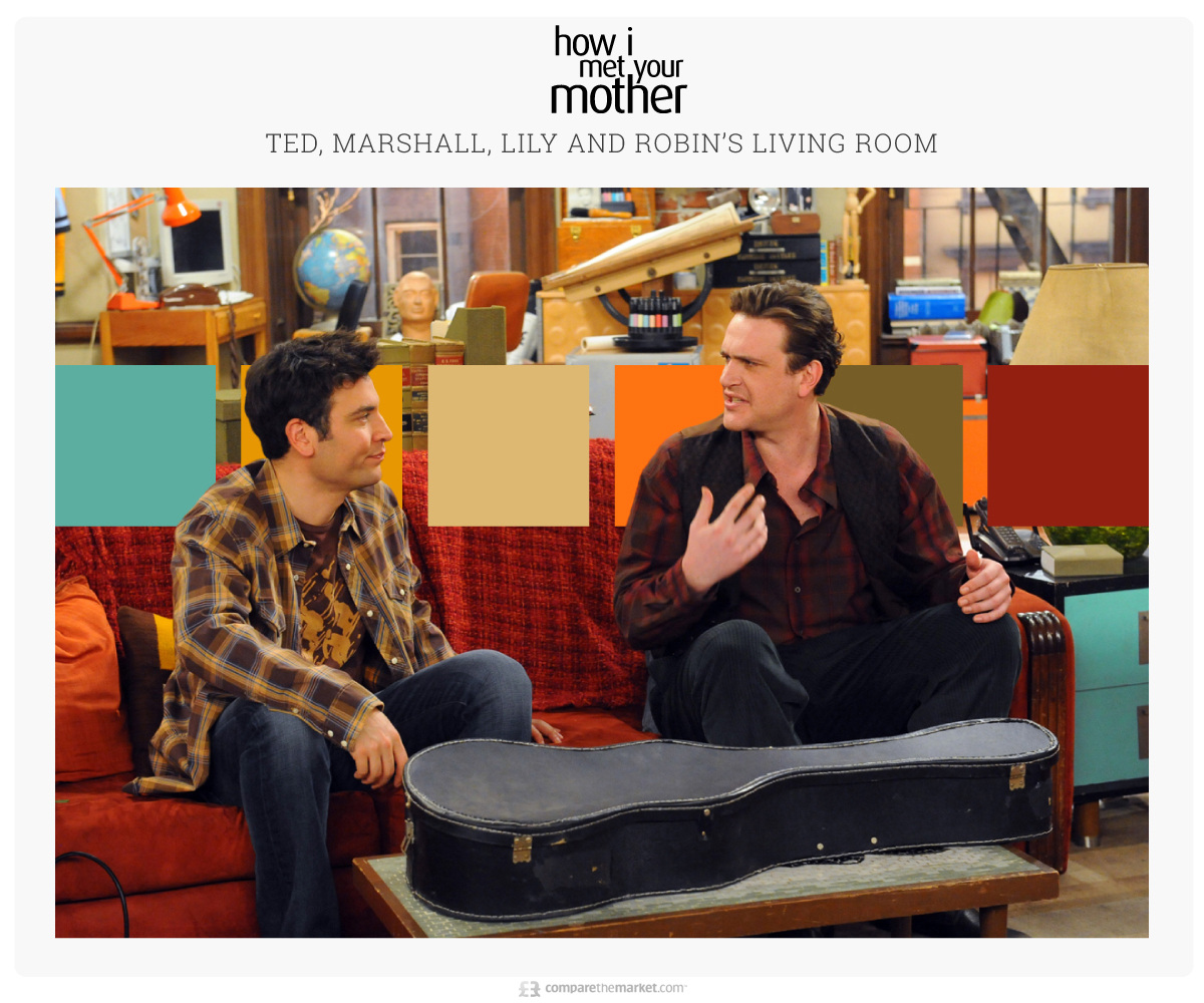 how i met your mother living room color palette ideas