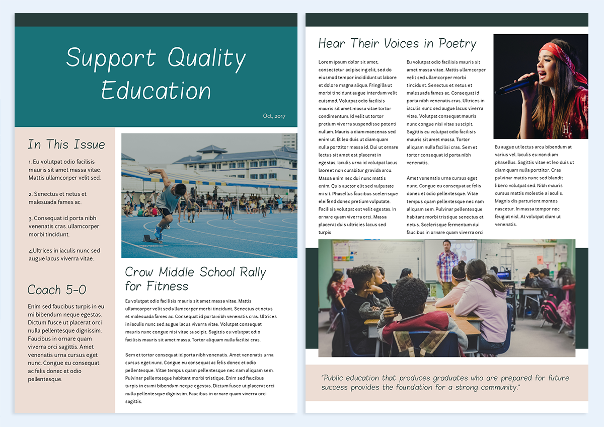 how-to-create-a-newsletter-education template