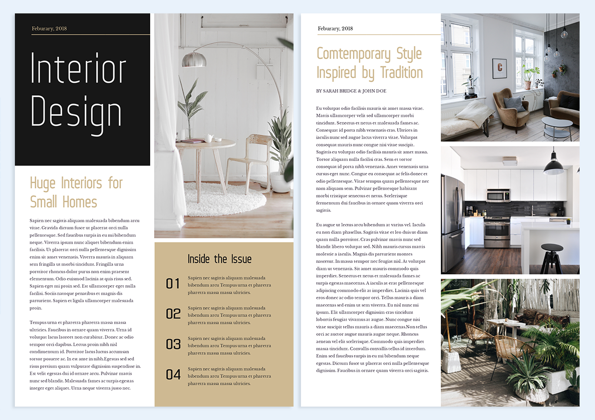 how-to-create-a-newsletter-interior design template