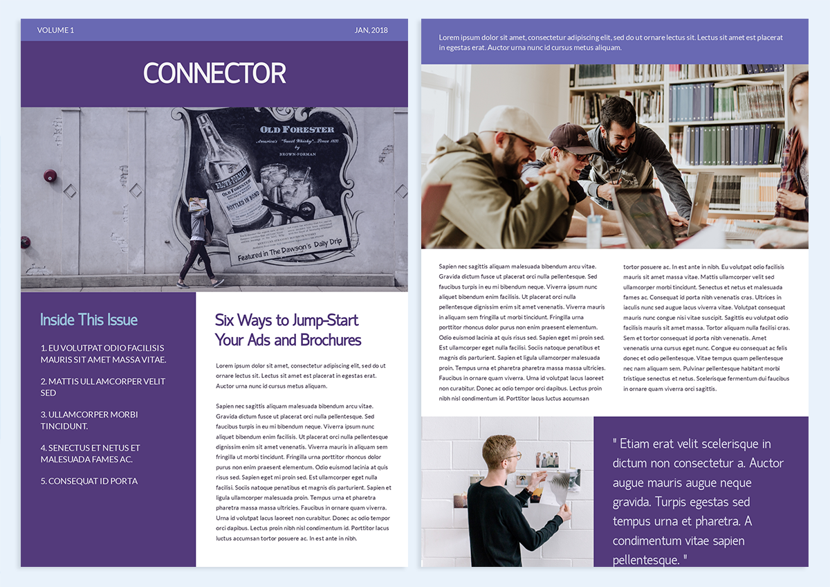 how-to-create-a-newsletter-purple and white template