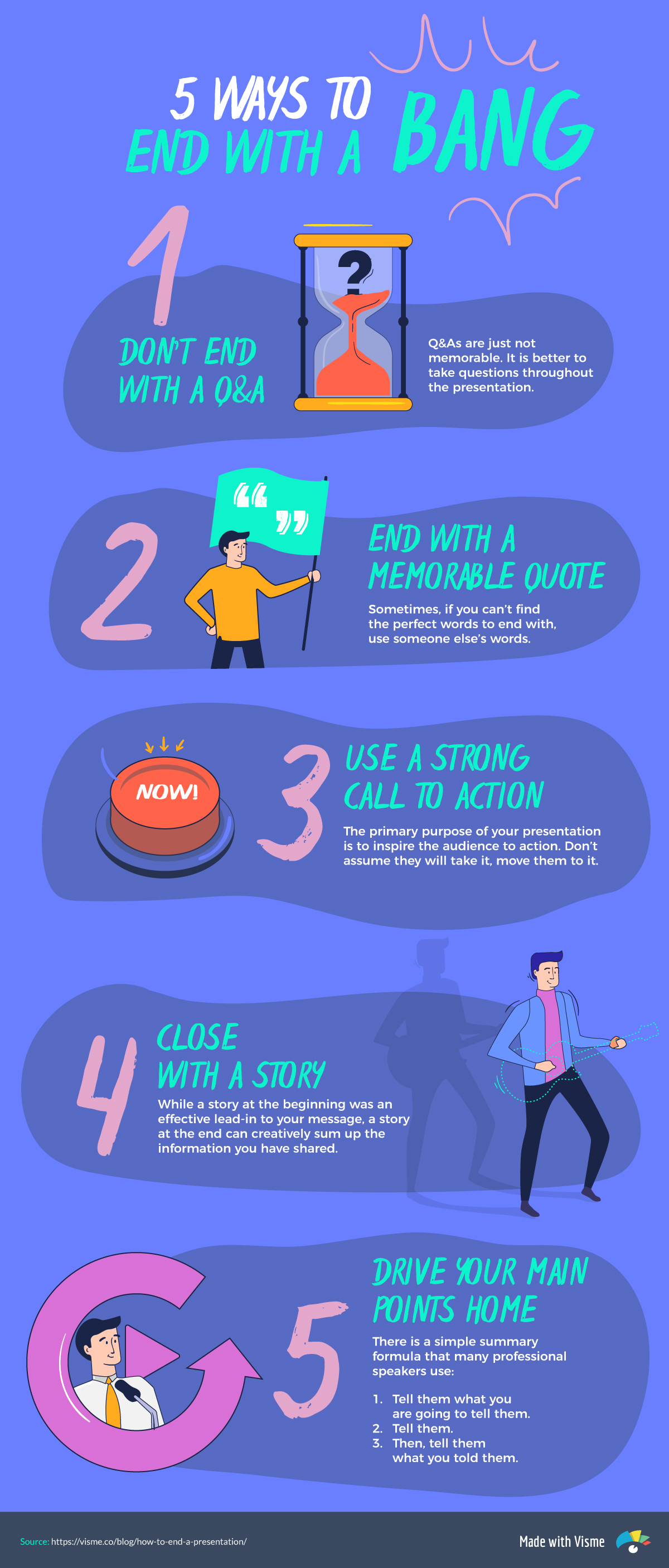 how to end a presentation visme infographic