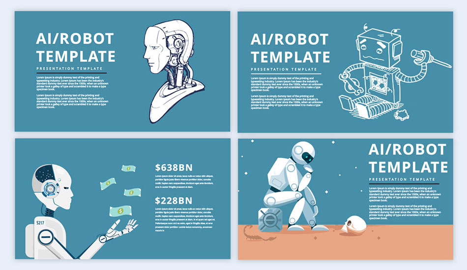incorporate robots in the design creative presentation ideas