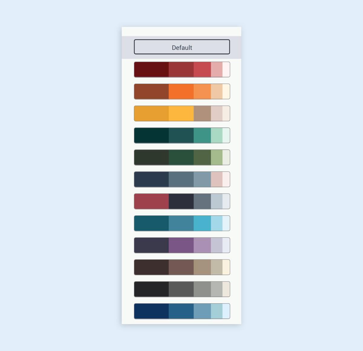 infographic best practice - color palette theme scheme visme tool