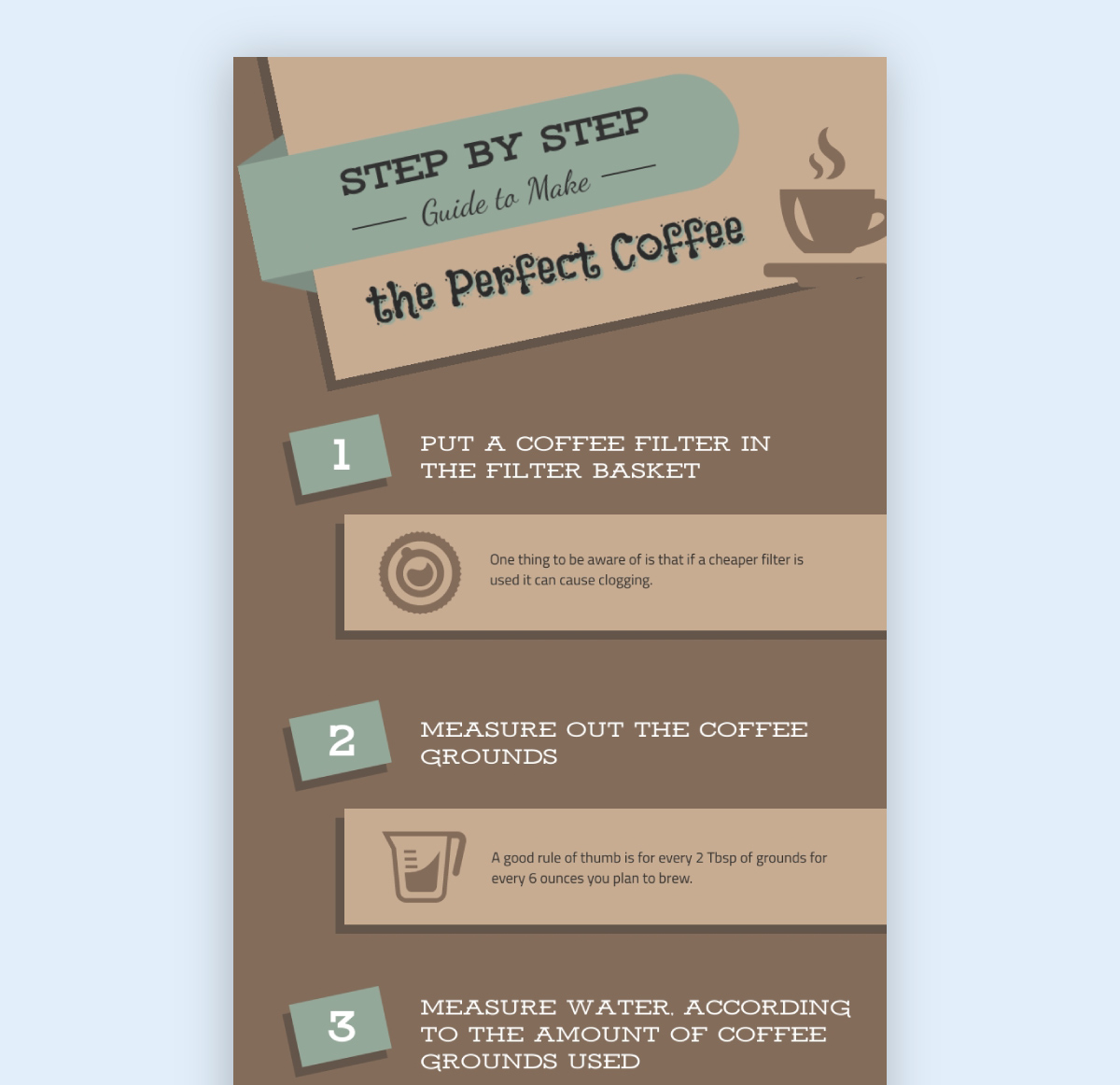 infographic best practice - color scheme brown coffee infographic example template visme