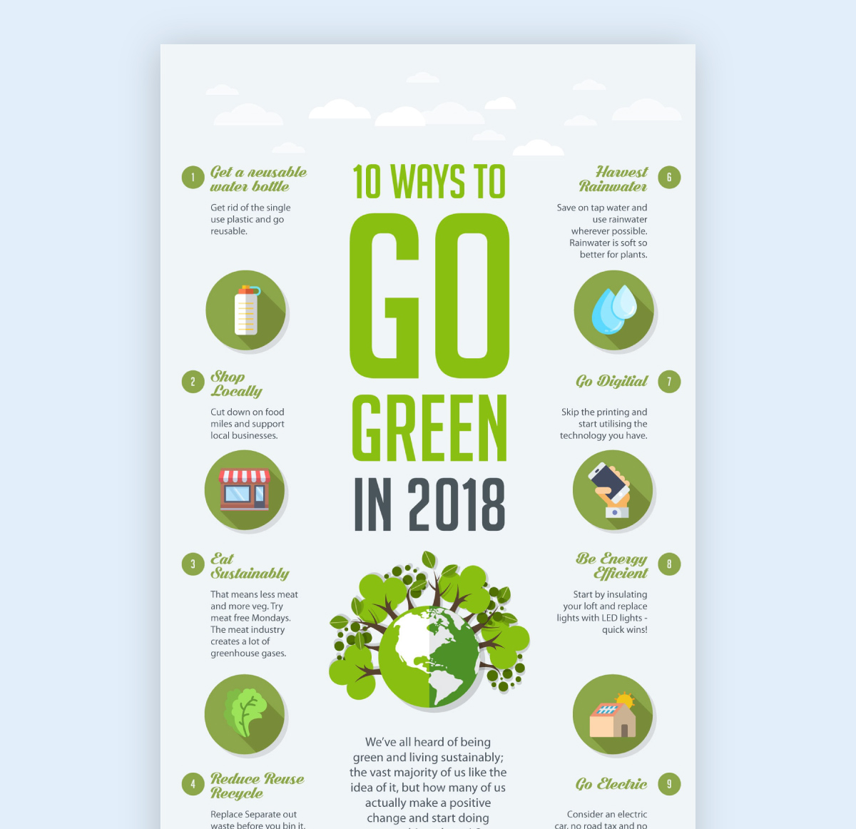 infographic best practice - color scheme green nature infographic example