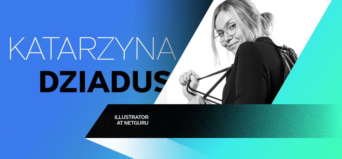 kataryzna dziadus graphic designers bio card