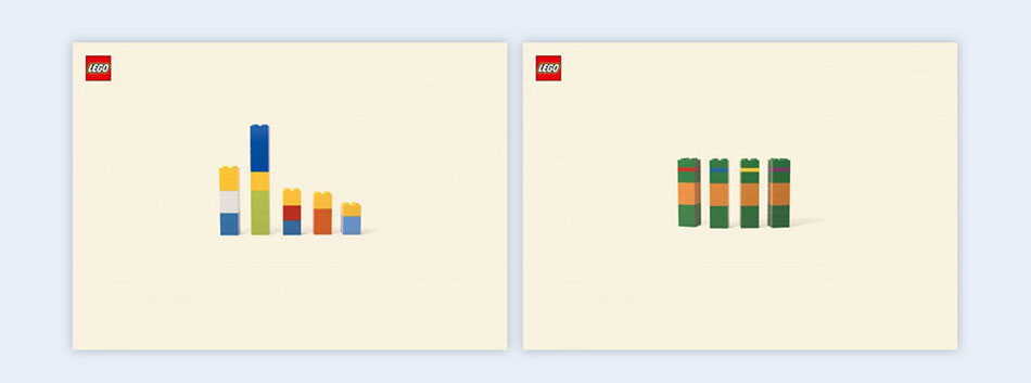 lego bricks creative presentation ideas
