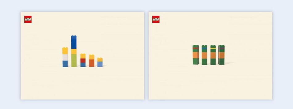 lego bricks creative presentation ideas