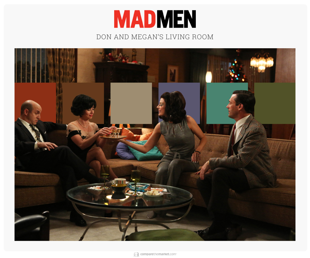 mad men living room color palette ideas