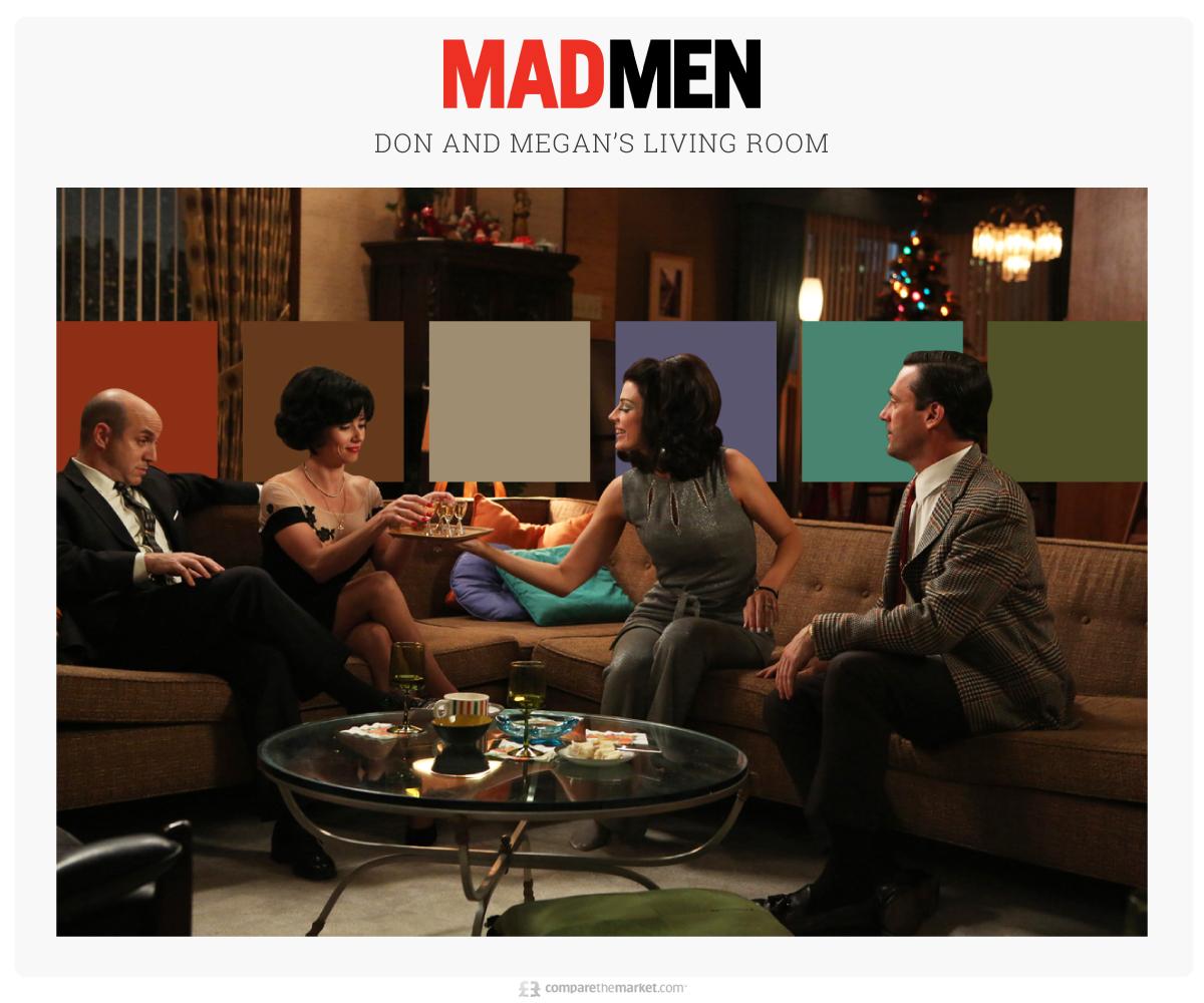 mad men living room color palette ideas