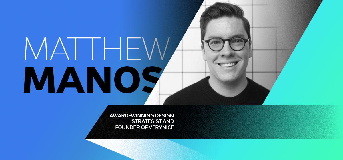 matthew manos bio card graphic designers tips
