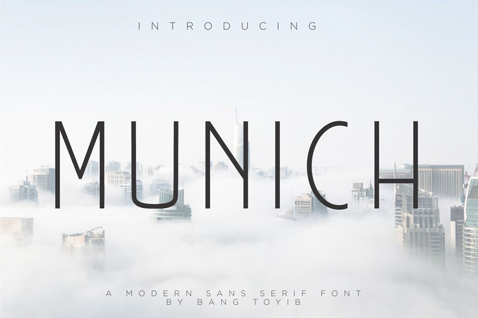 munich free modern fonts