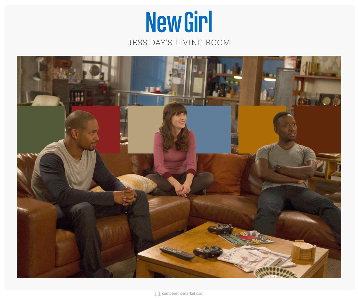 new girl living room color palette ideas