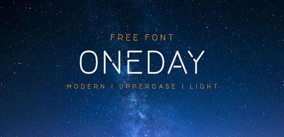 one-day free modern fonts