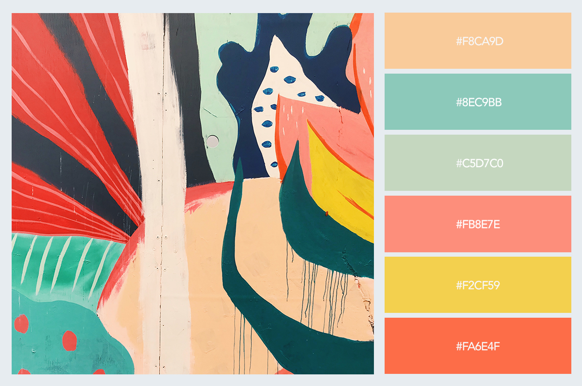 painting color palette hex codes pastel colors