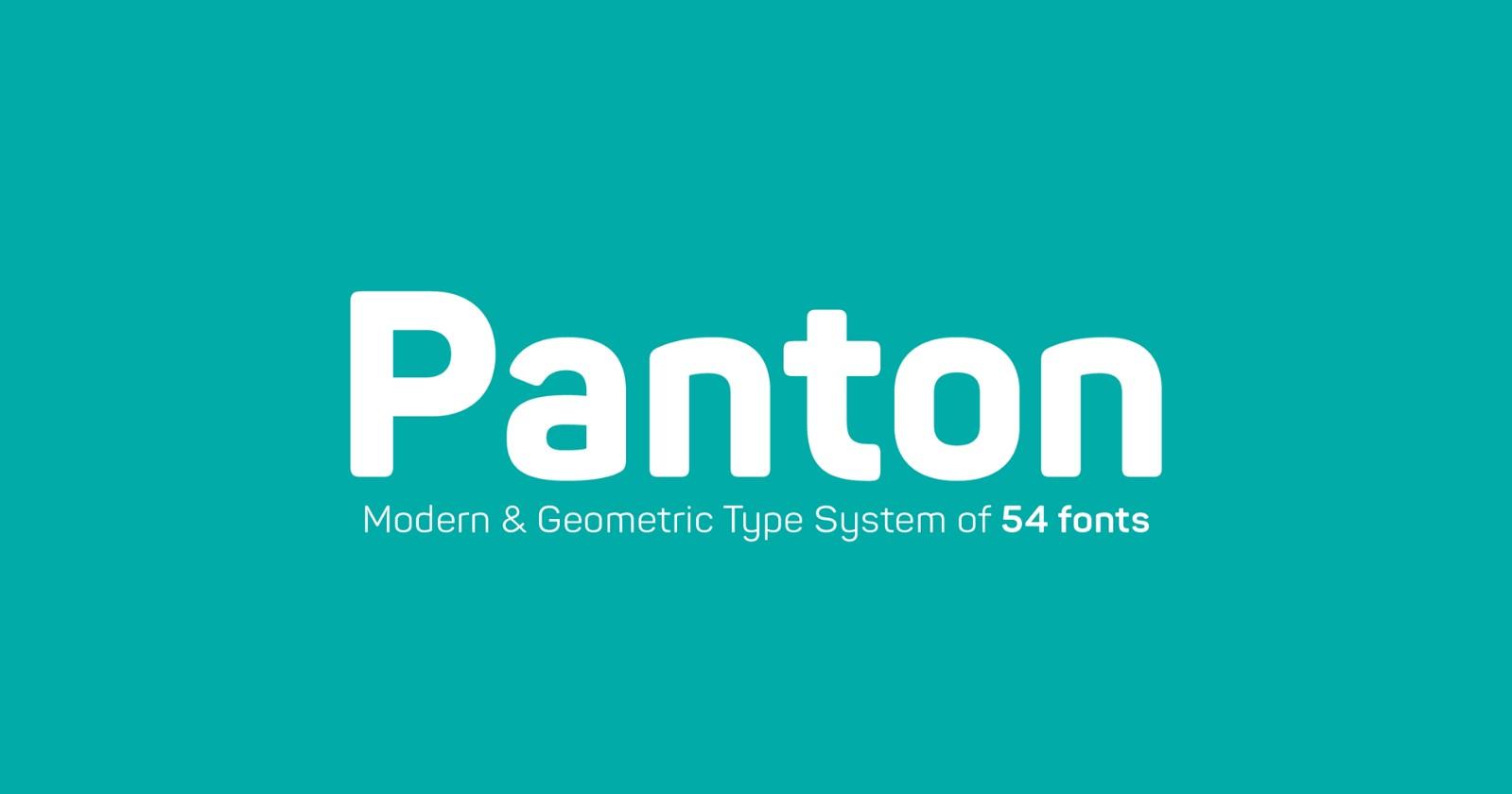 panton pretty fonts