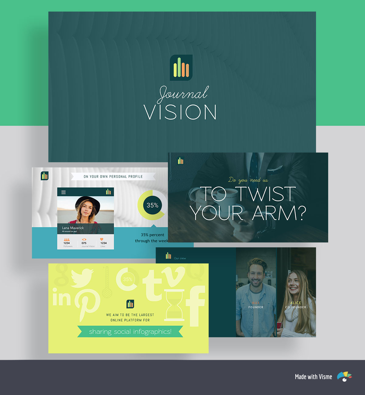 pitch deck template - biogrify journal vision