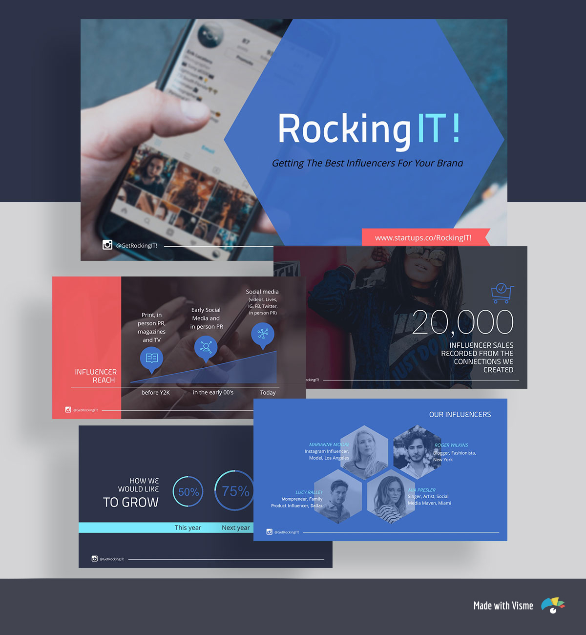 pitch deck template - launchrock rockingit