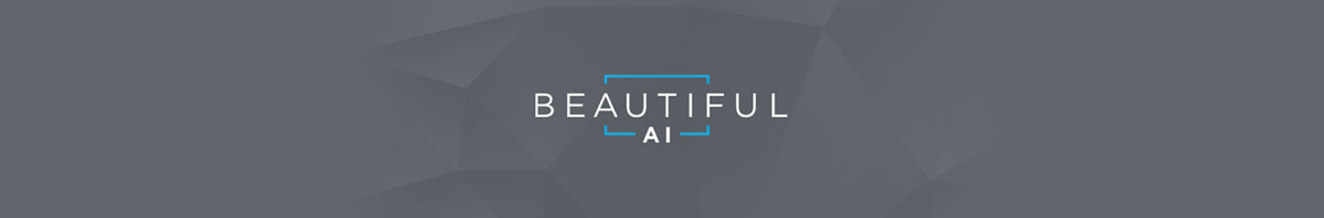 The Beautiful AI logo against a gray background