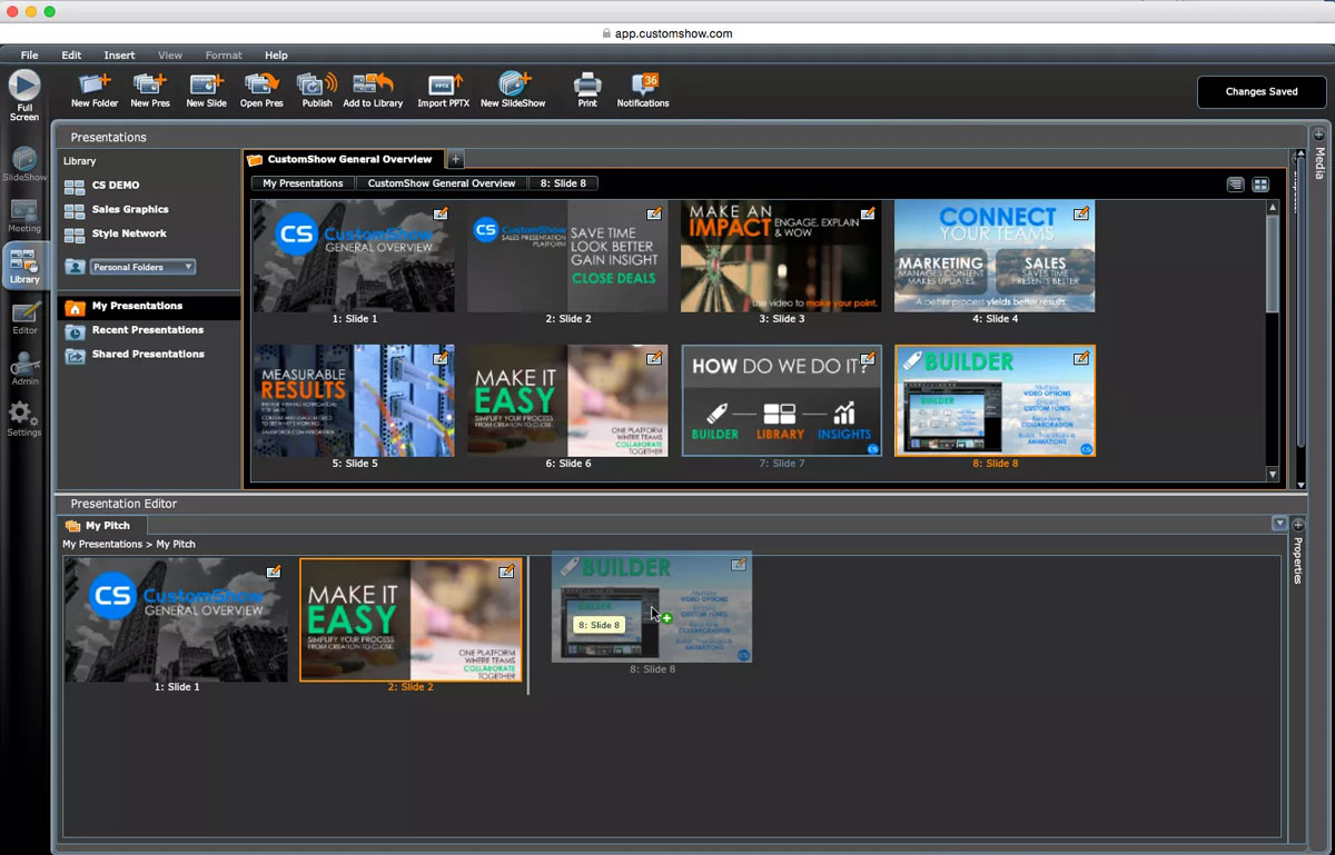 powerpoint alternatives presentation software customshow screenshot 2